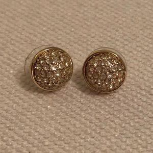J Crew gold round earrings